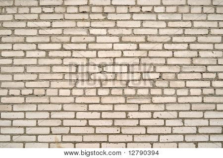 The old white brick wall