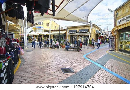 NORTHERN OCCUPIED CYPRUS, NOVEMBER 25 2015: touristic shops in Northern occupied Cyprus. Editorial use.