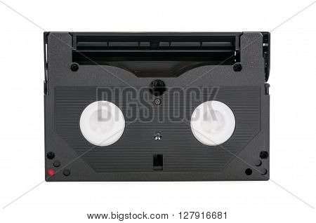 8mm video cassette isolated on white background with clipping path