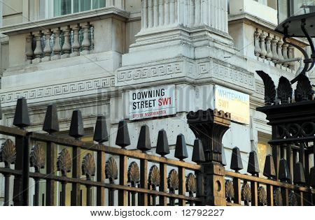 The Downing Street road sign