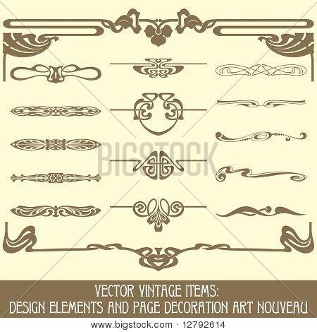 Vector vintage items