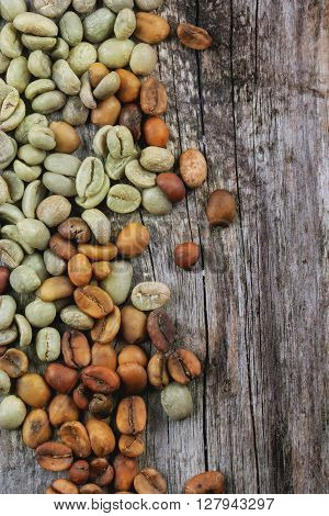 Green And Brown Coffee Beans