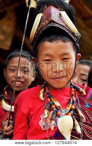 Native Boy In Nagaland, India