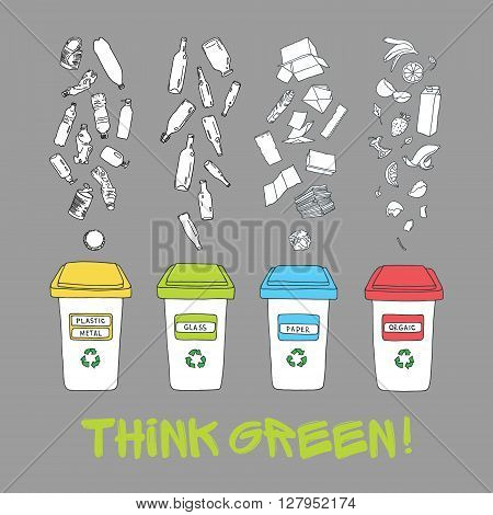 vector waste sorting vector photo free trial bigstock