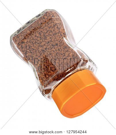 image of one jar of instant coffee isolated