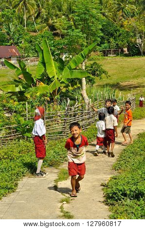 Children And Greenery