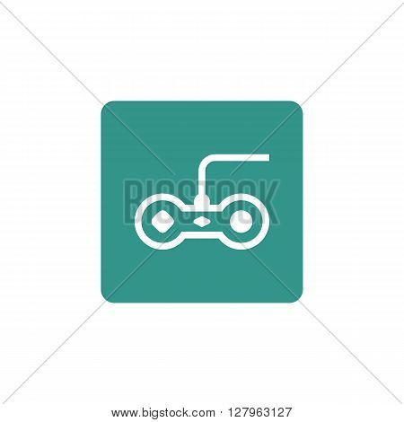Joystick Icon In Vector Format. Premium Quality Joystick Symbol. Web Graphic Joystick Sign On Green
