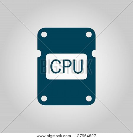 Cpu Icon In Vector Format. Premium Quality Cpu Symbol. Web Graphic Cpu Sign On Grey Background.