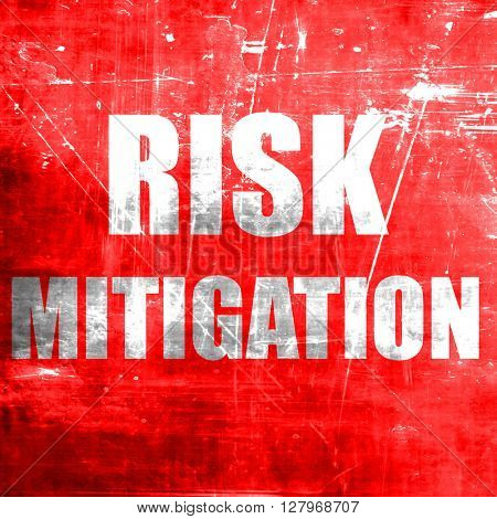 Risk mitigation sign poster