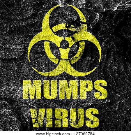 Mumps virus concept background
