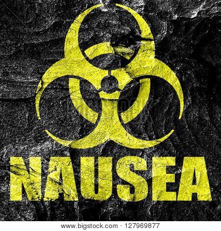 Nausea concept background