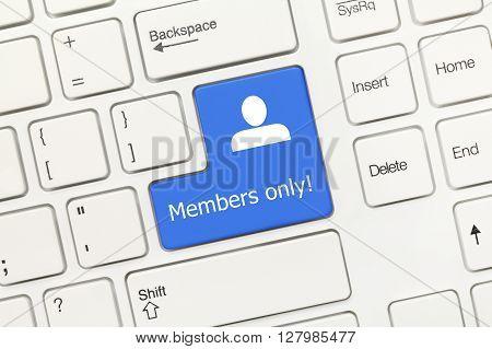 White Conceptual Keyboard - Members Only (blue Key)