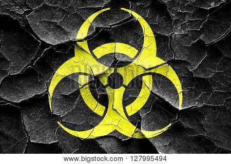 Grunge cracked Bio hazard sign on a grunge background