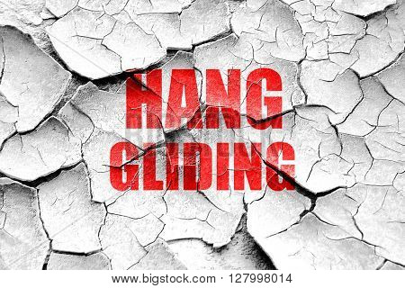 Grunge cracked Hanggliding sign background
