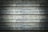 Seamless tileable texture useful as a background - grey concrete wall vignetted poster