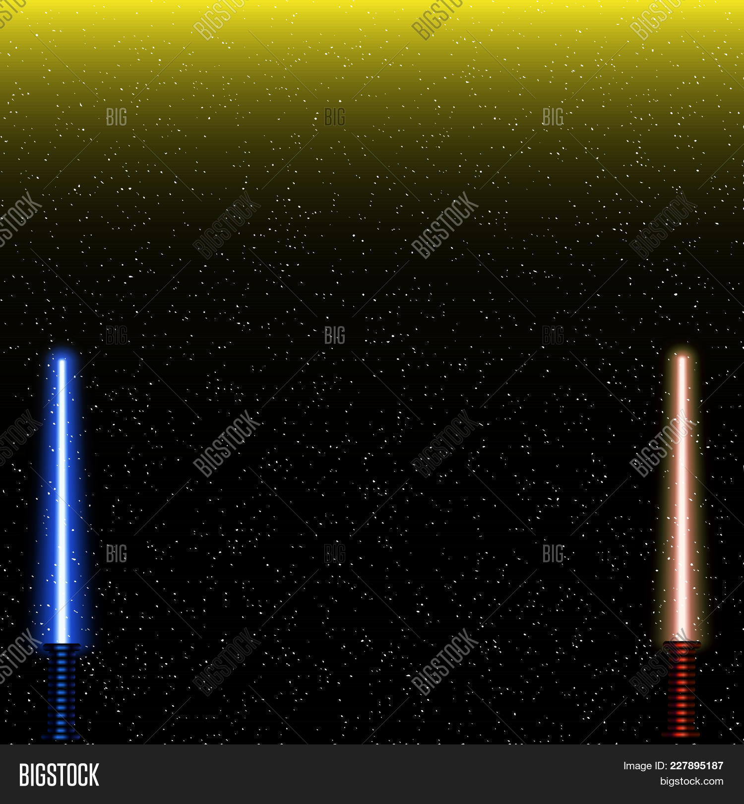 Light Swords On Space Vector & Photo (Free Trial) | Bigstock