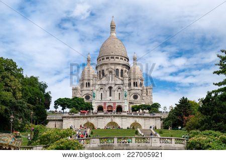 The famous Sacre Coeur Basilica at Montmartre in Paris