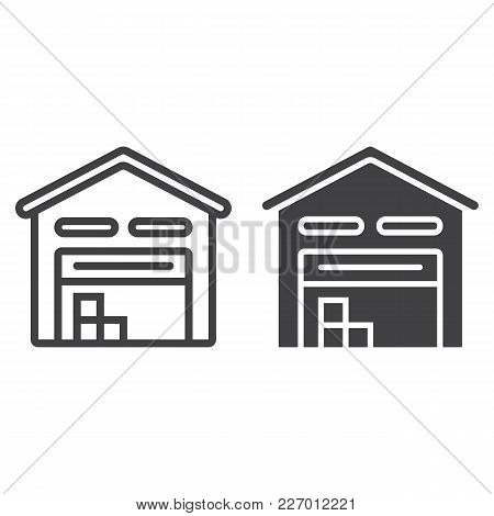 Warehouse Line And Glyph Icon, Logistic And Delivery, Storage Sign Vector Graphics, A Linear Pattern