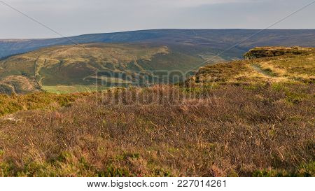 View Across The North York Moors From Cleveland Way Between Clay Bank And The Wainstones Near Stokes