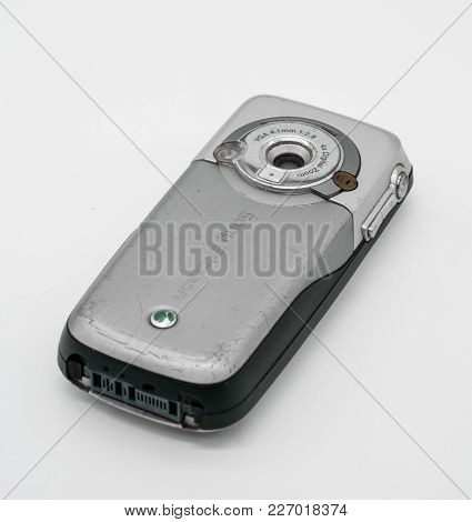 Used Sony Ericsson K700 Mobile Phone. Bangkok, Thailand - Feb 10, 2018: K700 Was Introduced In 2004
