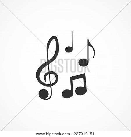 Vector Image Of A Musical Note Icon.