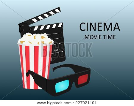 Vector Image For The Film Industry.online Cinema.movie Cinema Premiere Poster Design.
