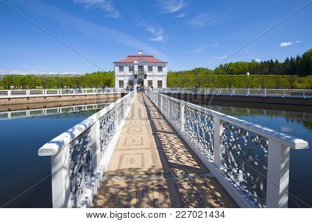 Saint Petersburg, Russia - May 30, 2017: Sunny May Day At The Marley Palace, Peterhof