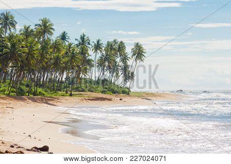 Sri Lanka, Asia, Rathgama - Beautiful Natural Beach Landscape Of Rajgama Aka Rathgama