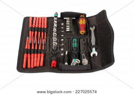 Professional Tool Set Isolated On The White Background
