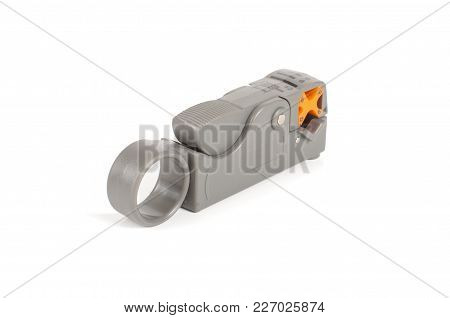 Cable Stripper Tool Isolated On The White Background