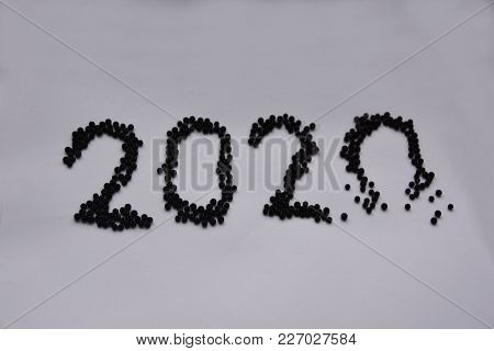 The Number Two Thousand And Twenty  And Bead