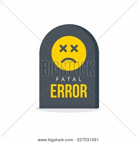 Fatal Error Message Vector Photo Free Trial Bigstock