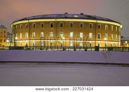 Saintt Petersburg, Russia - January 30, 2018: The Building Of The Old Prison