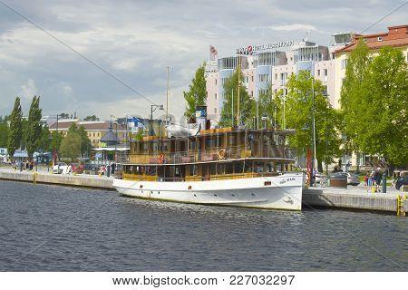 Savonlinna, Finland - July 17, 2017: The Old Passenger Steamship