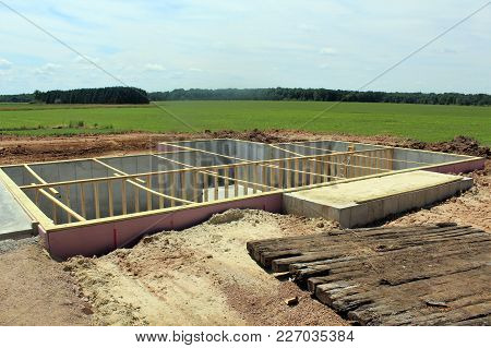 Poured Basement Ready For A House To Be Set On It