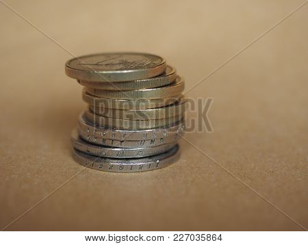 Euro Coins Money (eur), Currency Of European Union With Copy Space