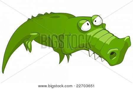 Cartoon Character Crocodile poster