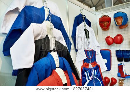 Clothing And Equipment For Martial Arts In Shop