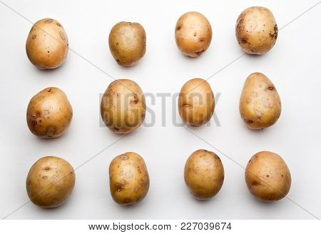 Potato Macro Studio Quality Light White Background