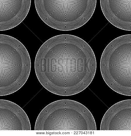 Design Seamless Monochrome Circle Background