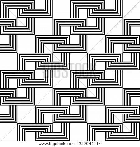 Design Seamless Monochrome Chain Pattern