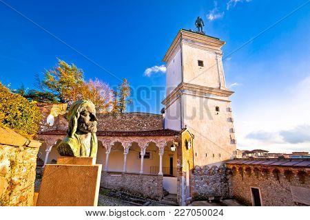 Town Of Udine Landmarks View, Friuli-venezia Giulia Region Of Italy