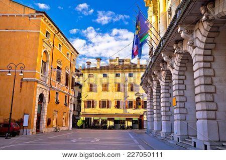 Colorful Street In Udine Landmarks View, Friuli-venezia Giulia Region Of Italy