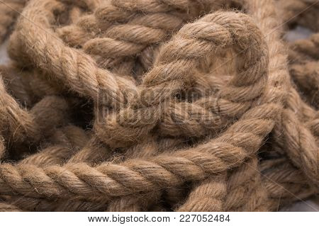 Ship Ropes, Building Ropes. Backgrounds. Adaptation Helping To Workwork