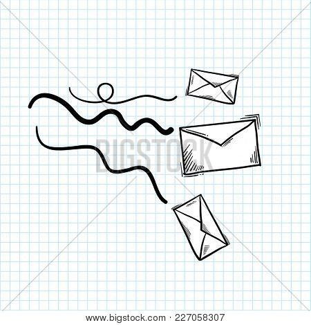 Illustration of mail isolated on background