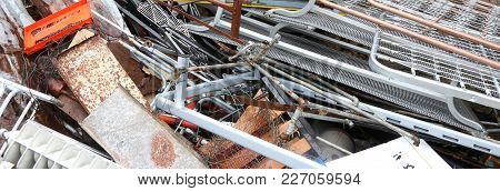 Iron And Scrap In A Landfill For The Recycling Of Junk Material