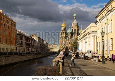 Cathedral Of The Resurrection Savior On Spilled Blood Saint Petersburg