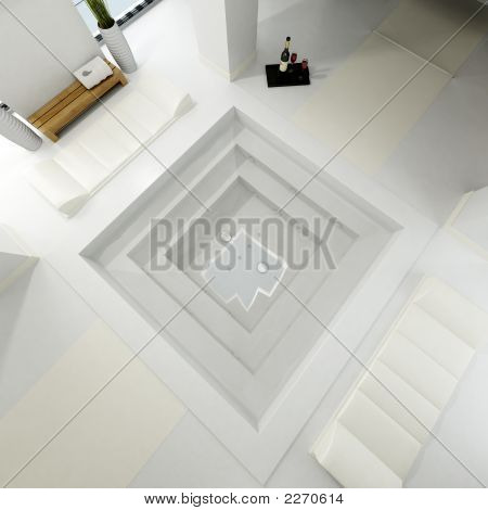 Aereal View Of A Luxurious Bath Spa