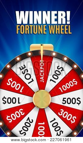 Wheel Of Fortune, Lucky Icon With Place For Text. Vector Illustration Eps10