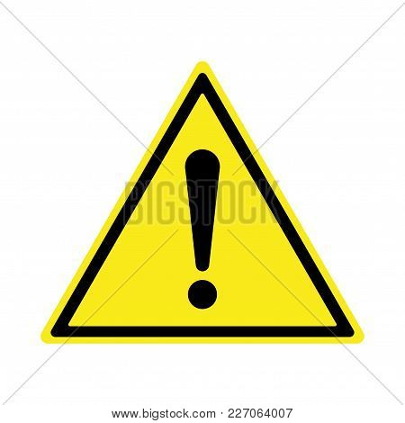 Exclamation Sign, Hazard Warning, Isolated, Caution Icon Warning Symbol, Yellow And Black